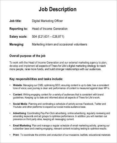 Digital Marketing Job Description. Audio Editing Technician Job ...