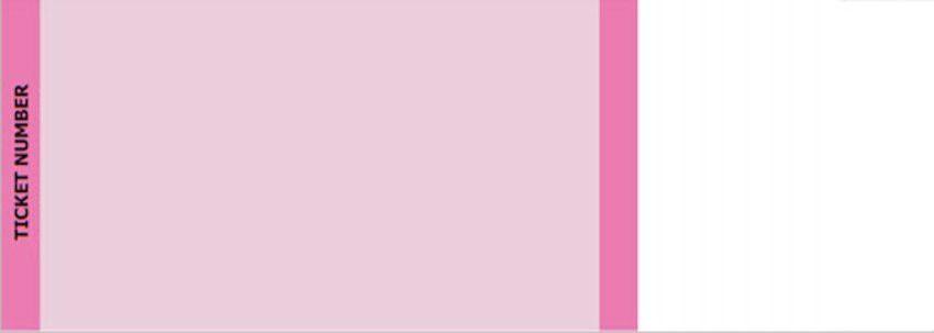 Pink Standard Horizontal Tickets | by FreshTix Ticket Printing
