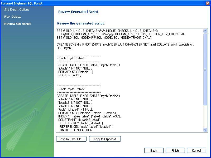 MySQL :: MySQL Workbench Manual :: 9.4.1.1 Forward Engineering ...