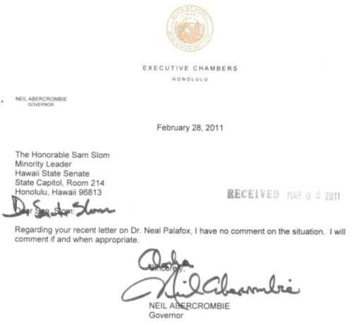 See Hawaii guv's terse letter about firing of health chief
