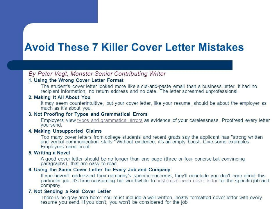 Cover Letters: Selling your skills on paper - ppt video online ...