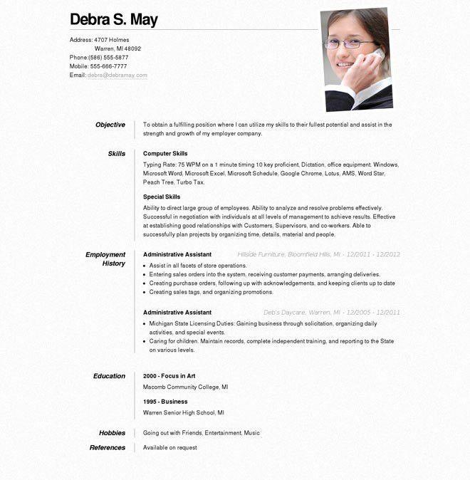 Online Resume Template #1061 - http://topresume.info/2015/01/01 ...