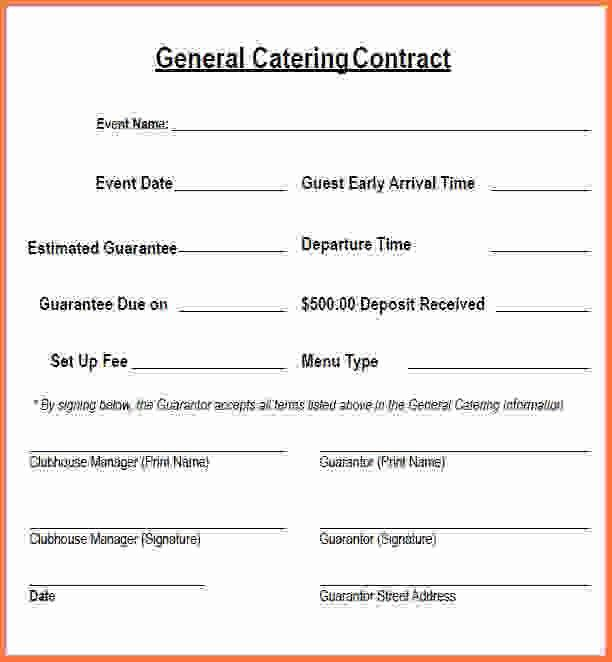 Catering Contract Template.catering Contract Pdf.jpg - Sales ...