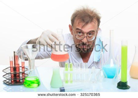 Young Crazy Chemist Working Lab Stock Photo 511564279 - Shutterstock