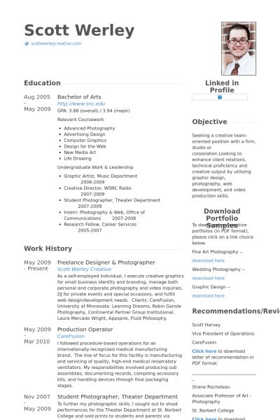 Freelance Designer Resume samples - VisualCV resume samples database