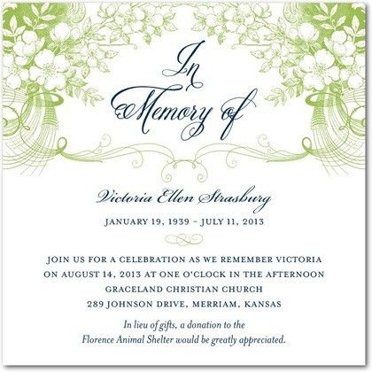 10 Best Images of Memorial Service Invitation Wording Ideas ...
