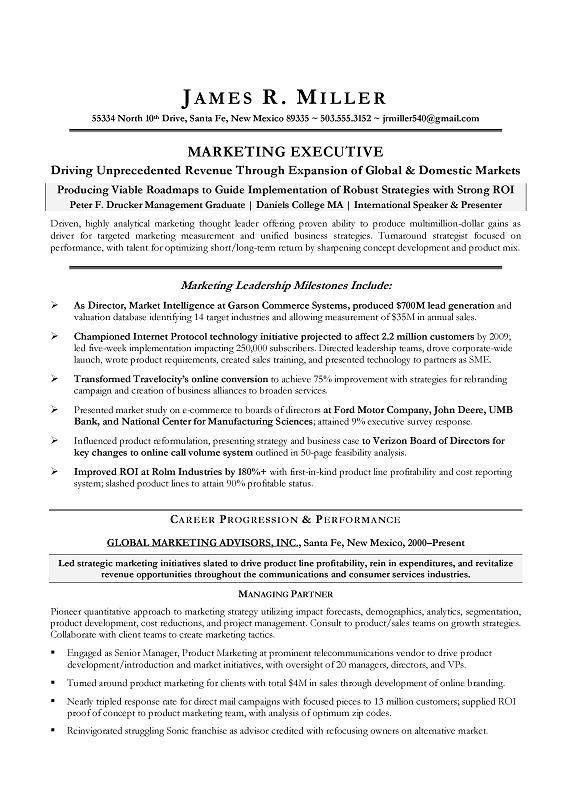 Marketing Executive Resume Example | EssayMafia.com