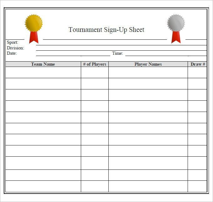 Sign Up Sheets - 60+ Free Word, Excel, PDF Documents Download ...