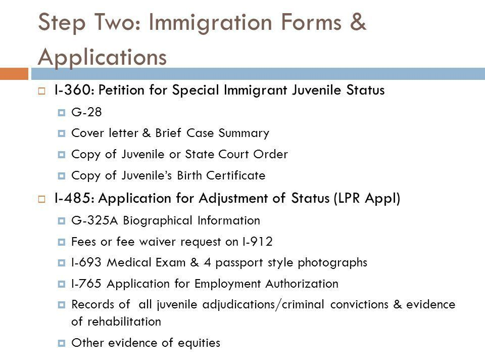 Immigration Issues for Court-Involved Youth and Families - ppt ...