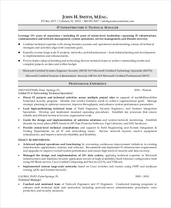 7+ Operations Manager Resume - Free Sample, Example, Format | Free ...