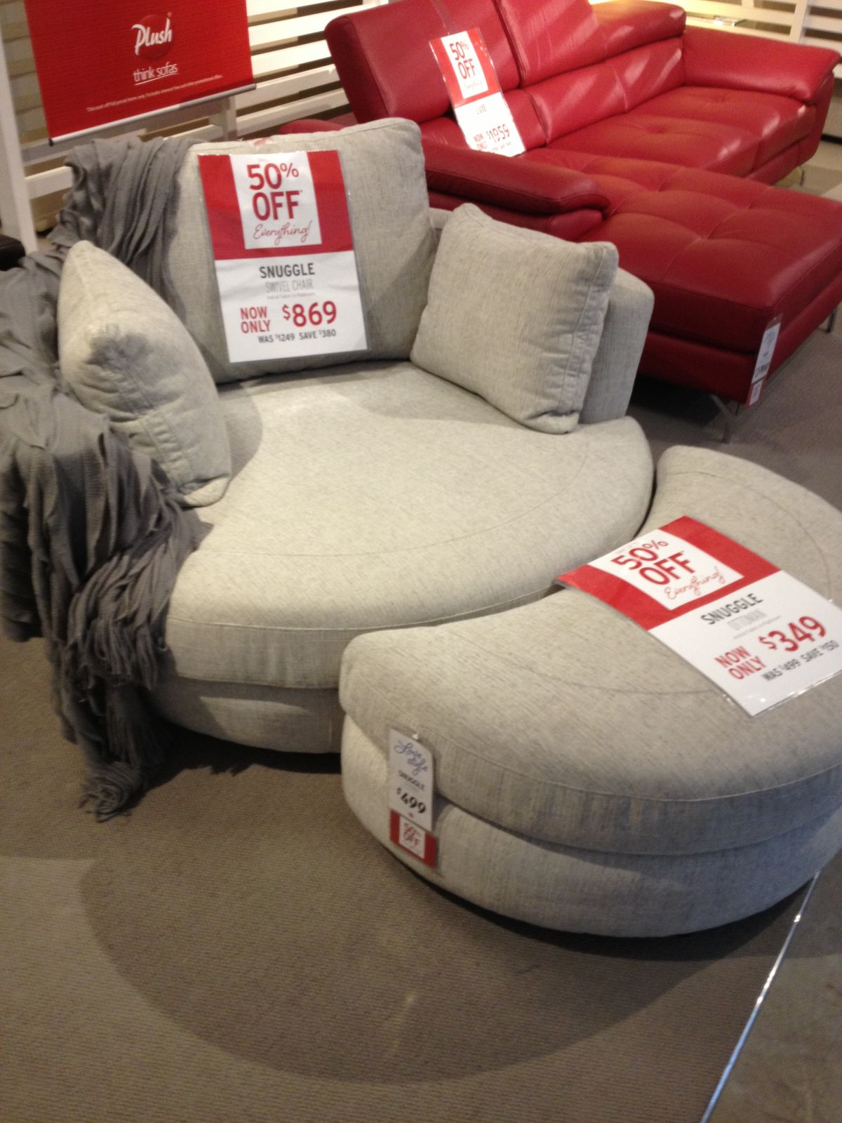 2 person oversized round cuddle chair