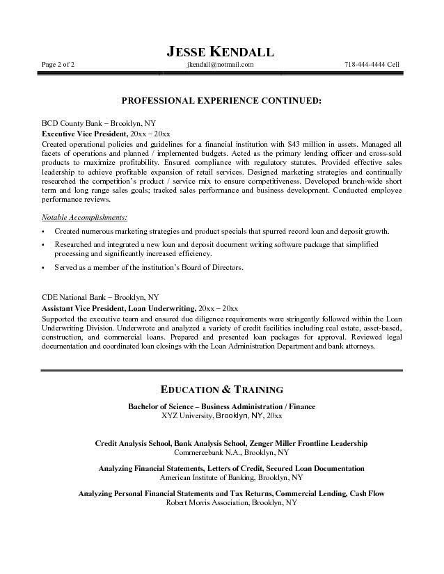 Sample resume bank executive | Students Ethics Essay Prize - The ...
