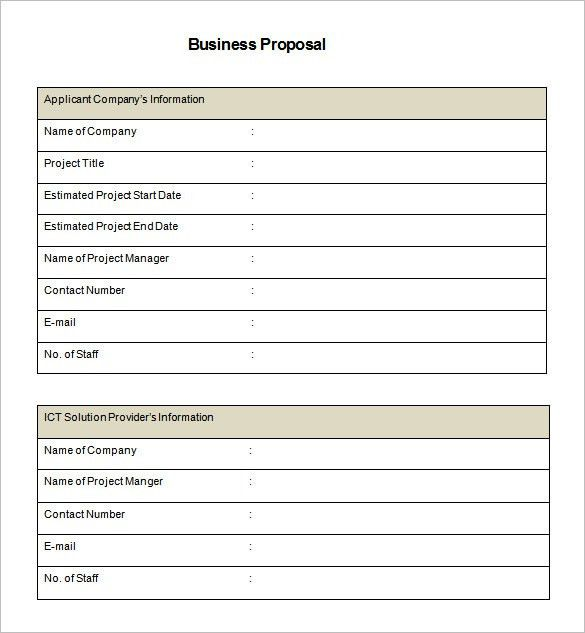 Business Proposal Template Word Document | business letter template
