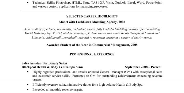 Hair Salon Receptionist Resume Sample 1 Salon Receptionist Resume ...