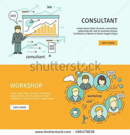 Consultant Workshop Vector Web Banners Flat Stock Vector 486479836 ...