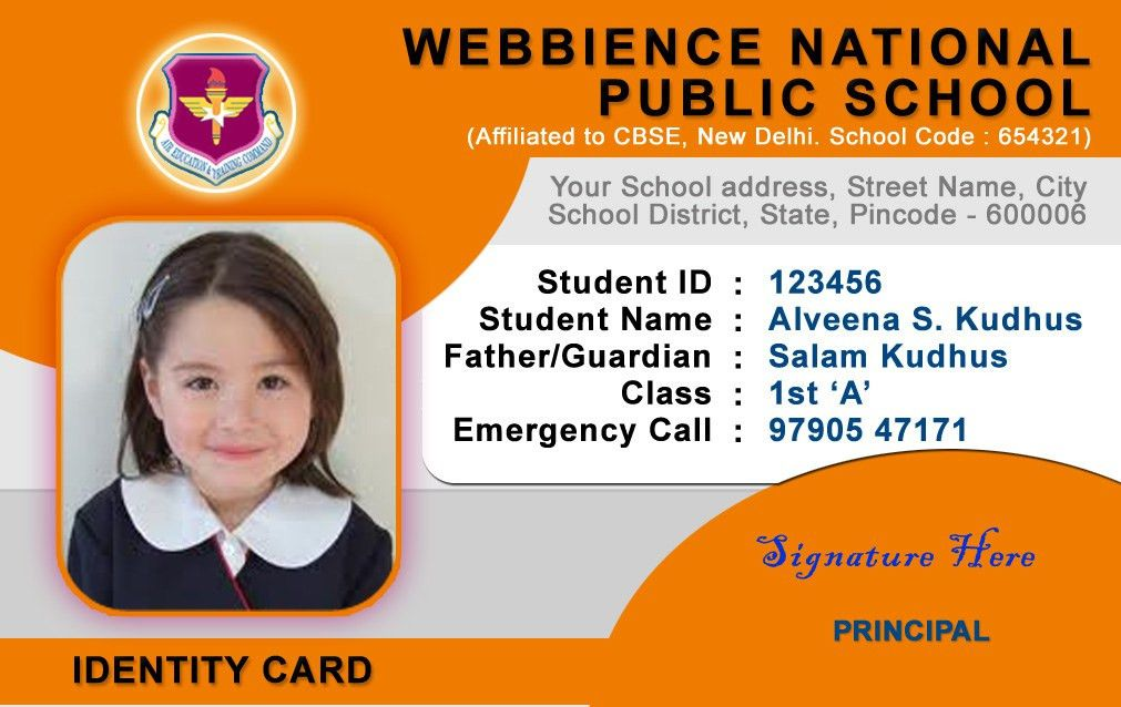 All sizes | School ID Card Templates | Flickr - Photo Sharing!