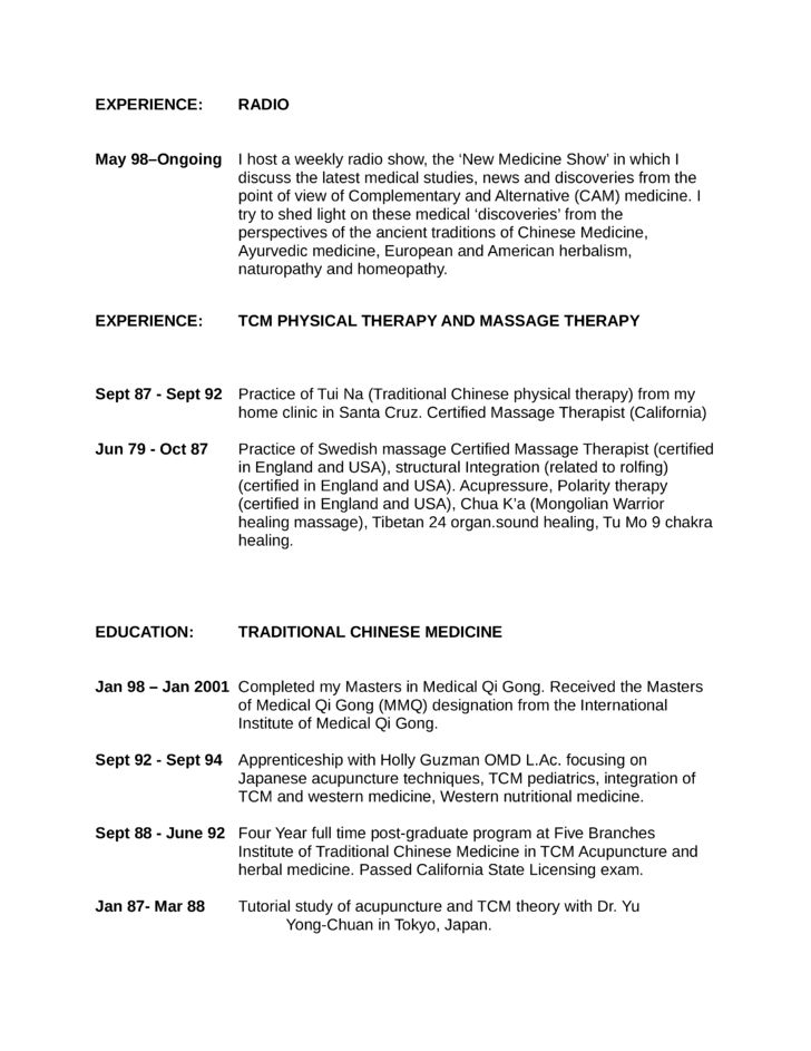 Executive Massage Therapist Resume Template | page 5
