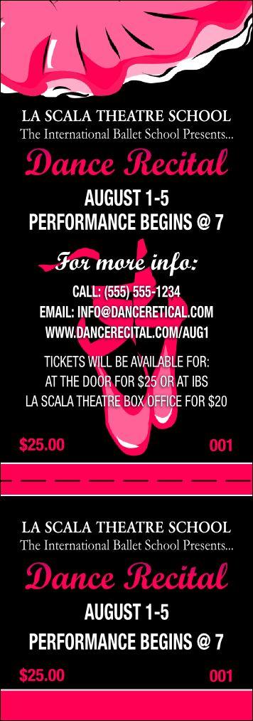 Recital Event Ticket