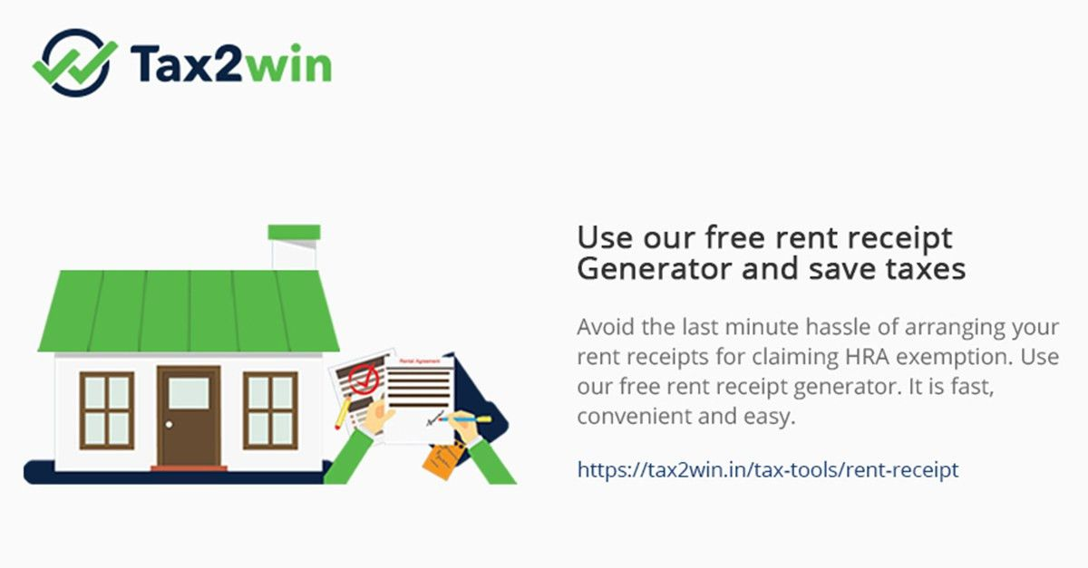 Rent Receipt Generator, Claim HRA, Save Taxes, Free Generator ...