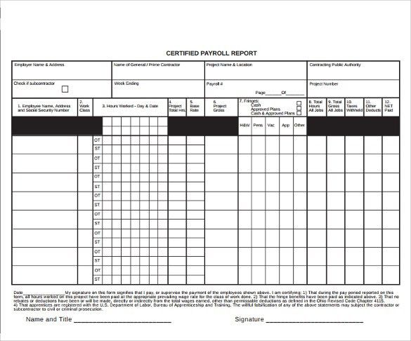 Certified Payroll Form. Retail Order Form - New Car Nj Car ...