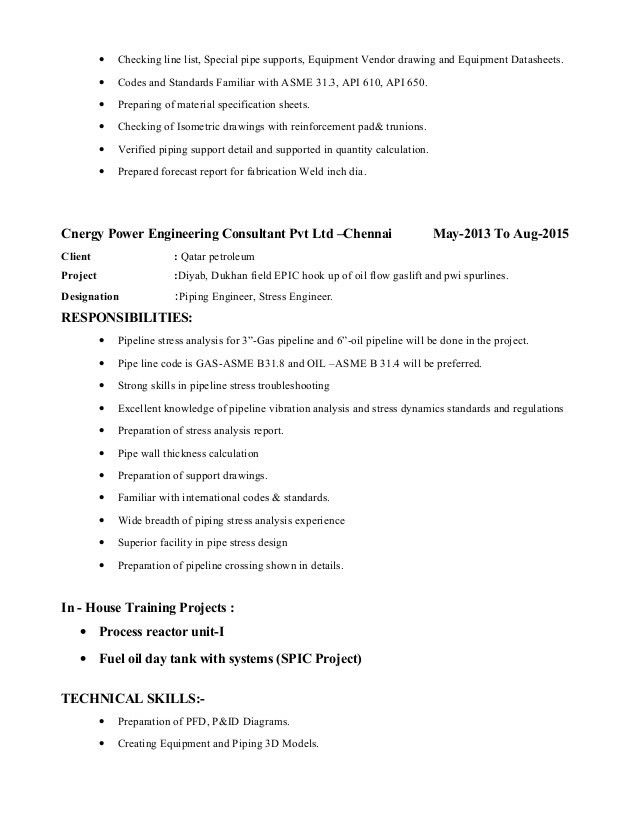 piping engineer cover letter subway job duties piping designer cv ...