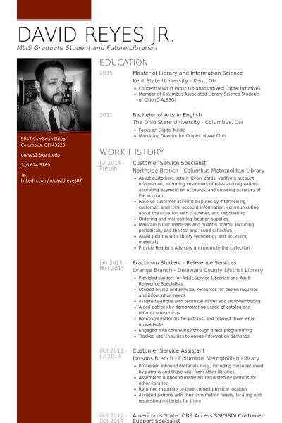 Customer Service Resume samples - VisualCV resume samples database