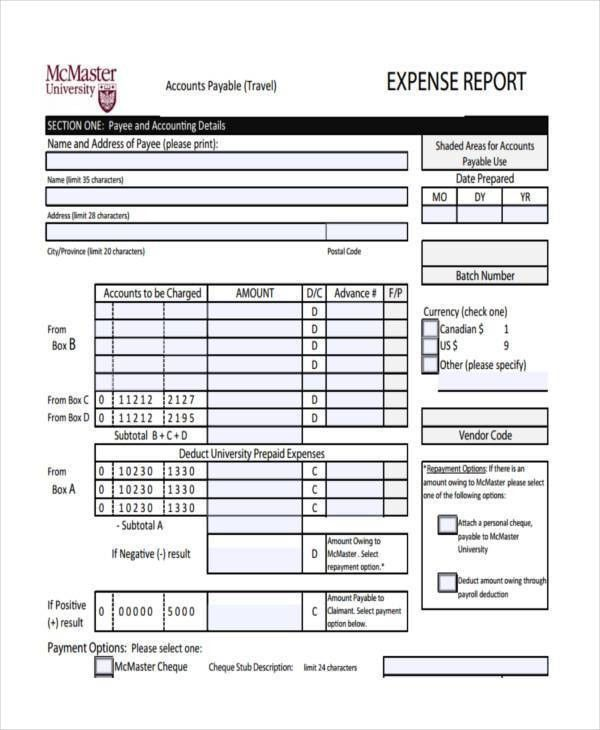 Expense Report Form. Figure 4: Rudimentary Expense Report Form ...