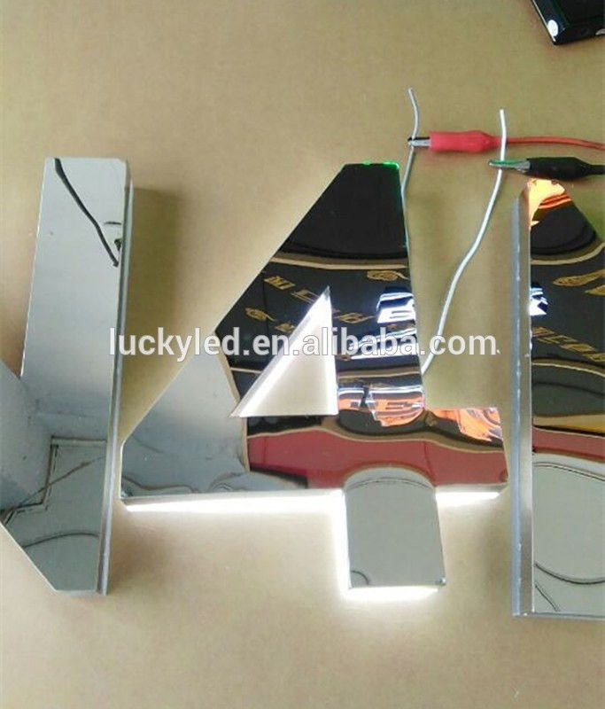 Channel Letters Reverse White Lighting Backlit Stainless Steel Led ...