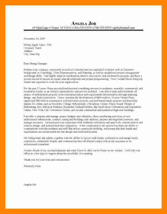 7+ cover letter architect | resume sections