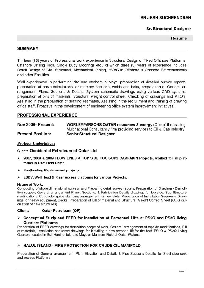8 Structural Engineering Resume Resume structural engineer resume ...