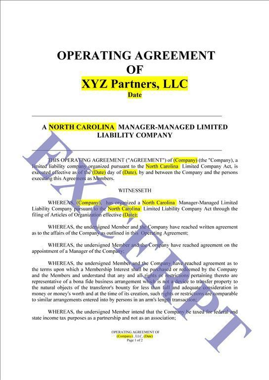 Operating Agreement LLC Simple: REALCREFORMS