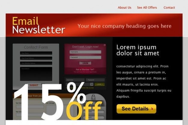 Html email template PSD file | Free Download