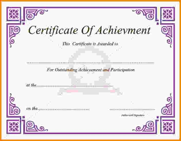 10+ certificate of achievement template | Letter Template Word