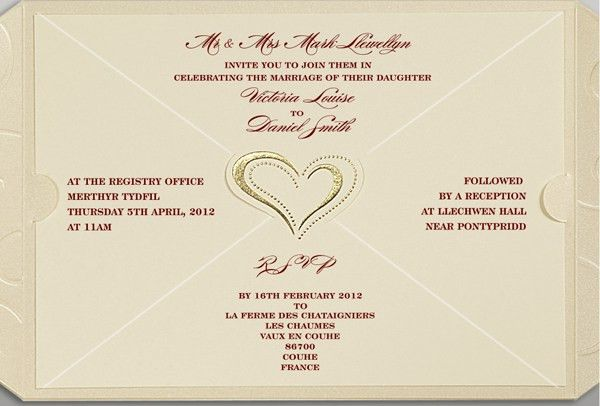 Sample Invitation Card For Wedding ~ Matik for .