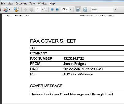 Send a Fax Online with a Fax Cover Sheet using mBox™
