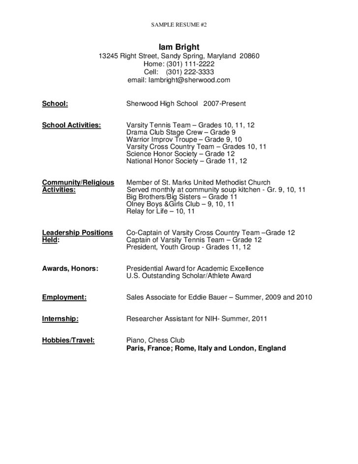 sample resume for high school graduate free download