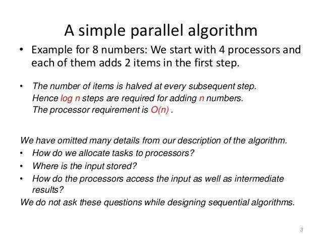 Parallel Algorithms