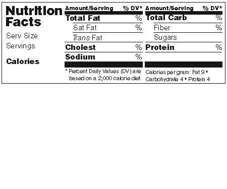 Available Labels - Make Your Own Nutrition Facts Labels
