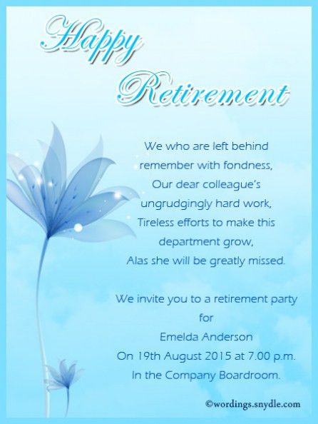 Retirement Party Invitation Wording Which Viral In 2017 ...