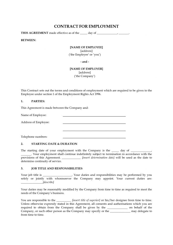 Employment Contract Confidentiality Agreement Reference Letter ...