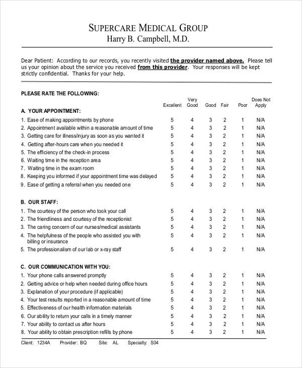Sample Customer Satisfaction Survey Forms - 10+ Free Documents in ...