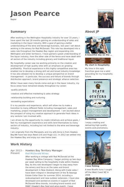 Territory Manager CV Örneği - VisualCV Özgeçmiş Örnekleri Veritabanı