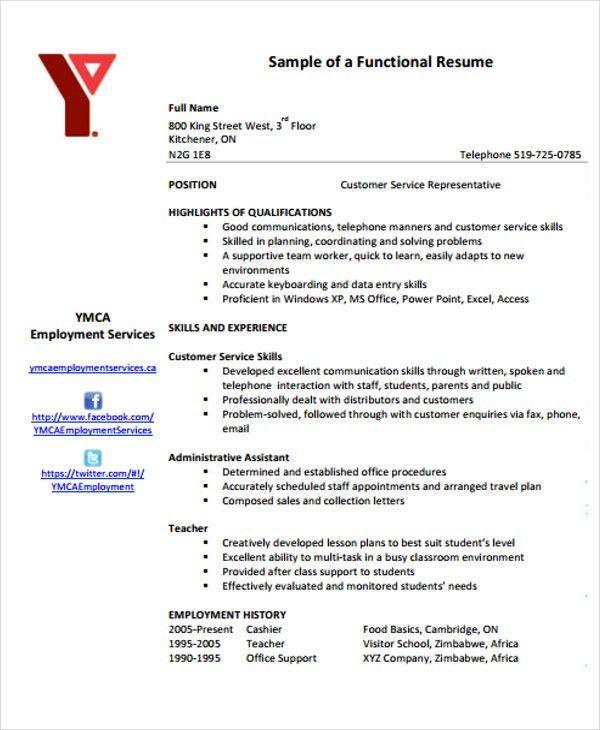 10+ Functional Curriculum Vitae Templates -Word, PDF | Free ...