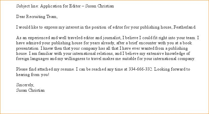 Sample Email For Job Application.sample Email Looking For A Job ...