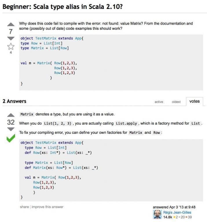 Scala type examples (type aliases and type members ...