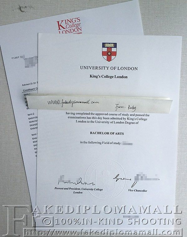 KCL degree with transcript, Kings College London degree ...