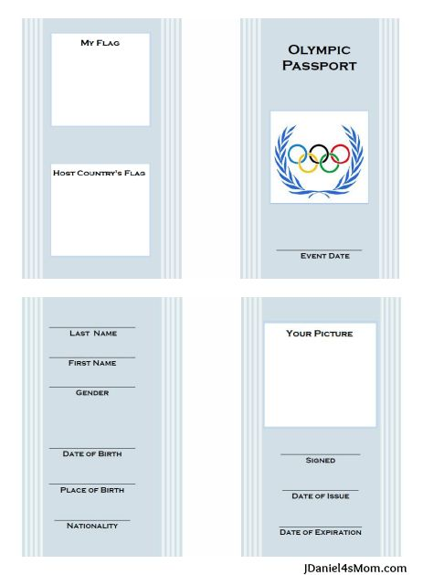Olympics for Kids: Free Printable Passport with Learning ...