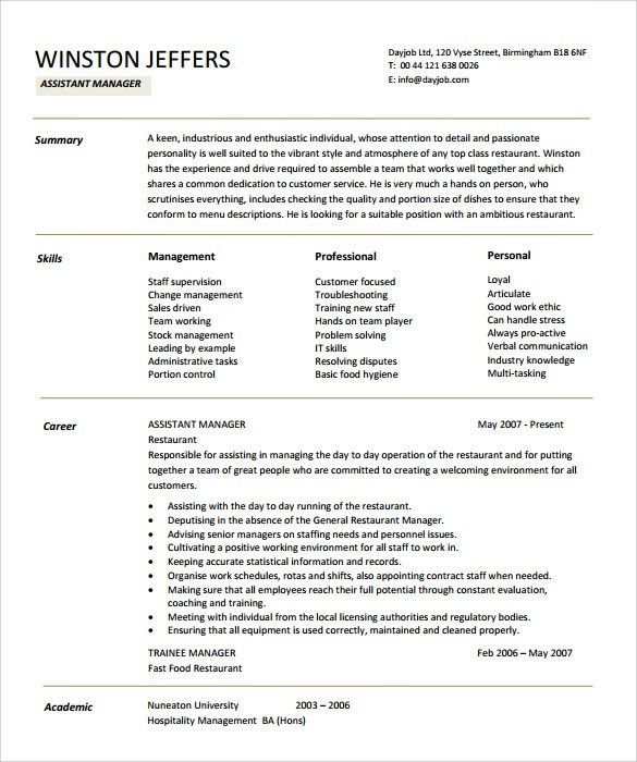 sample assistant manager resume unforgettable assistant manager