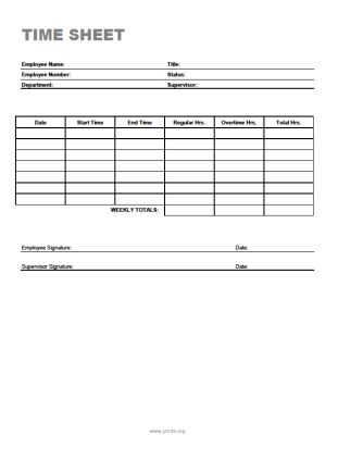 13 Best Images of Simple Printable Time Sheets - employee time ...