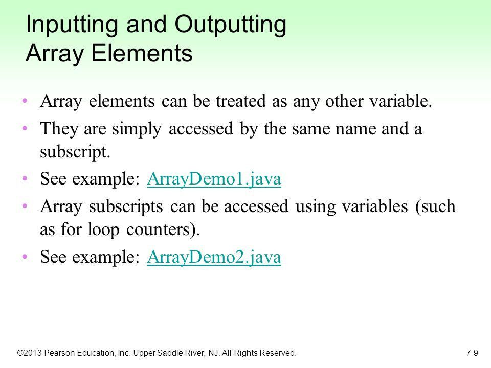 Chapter 7: Arrays and the ArrayList Class - ppt video online download
